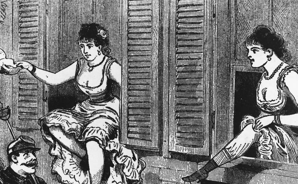 Met de billen bloot in 1892